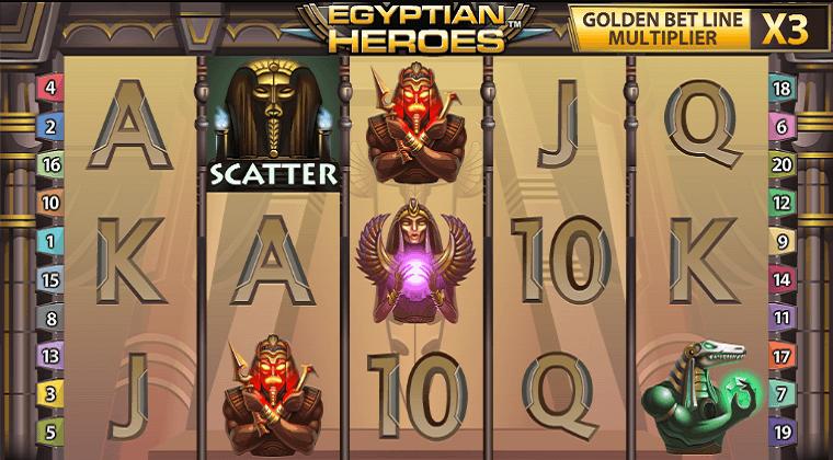 egyptian heroes netent slot oyunu