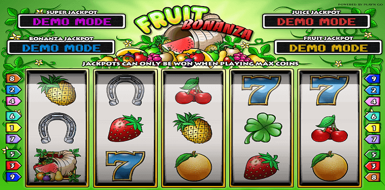 fruit bonanza playn go slot oyunu
