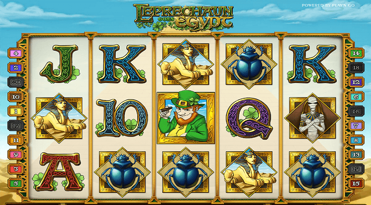 leprechaun goes egypt playn go slot oyunu