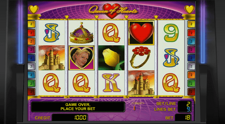 queen of hearts novomatic slot oyunu