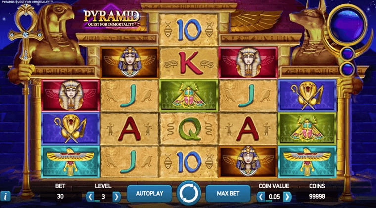 pyramid quest for immortality netent slot oyunu